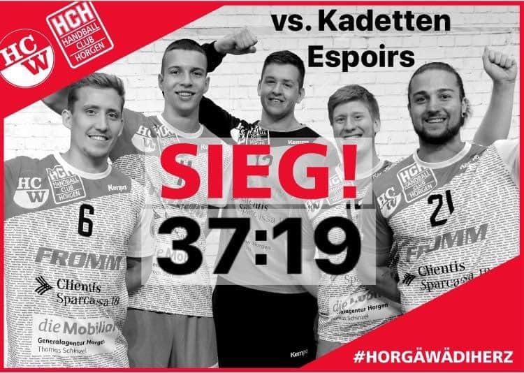 12.09.2020 NLB: SG Wädenswil-Horgen : SG GS/Kadetten Espoirs SH  37:19  (18:11)