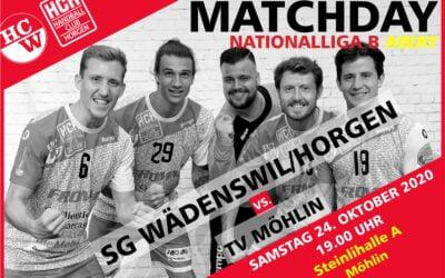 Vorschau: NLB: TV Möhlin : SG Wädenswil-Horgen, Samstag, 24.10.2020, 19.00 Uhr, Steinli A Möhlin