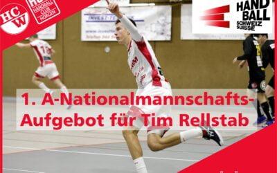GRATULATION! Tim Rellstab steht erstmals im Aufgebot für die A-Nationalmannschaft.
