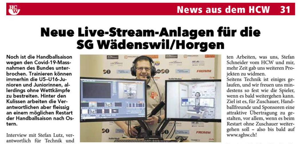 Der LiveStream ist bereit!