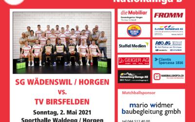 Vorschau: NLB SG Wädenswil/Horgen – TV Birsfelden