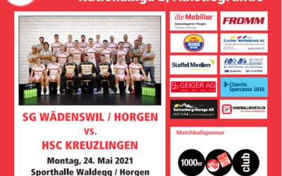 Vorschau:  NLB SG Wädenswil/Horgen – HSC Kreuzlingen 24.05.2021, 16:30Uhr
