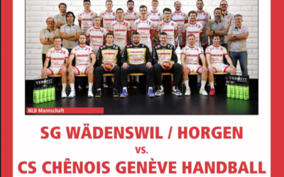 Heute Live 20:30 Uhr SG Wädenswil/Horgen – CS Chênois Genève Handball