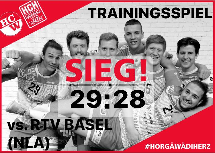 Vorbereitung NLB: RTV Basel (NLA) – SG Wädenswil/Horgen (NLB)