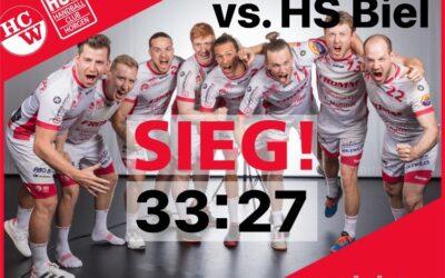 Spielbericht NLB: HS Biel – SG Wädenswil/Horgen 27:33 (16:16)
